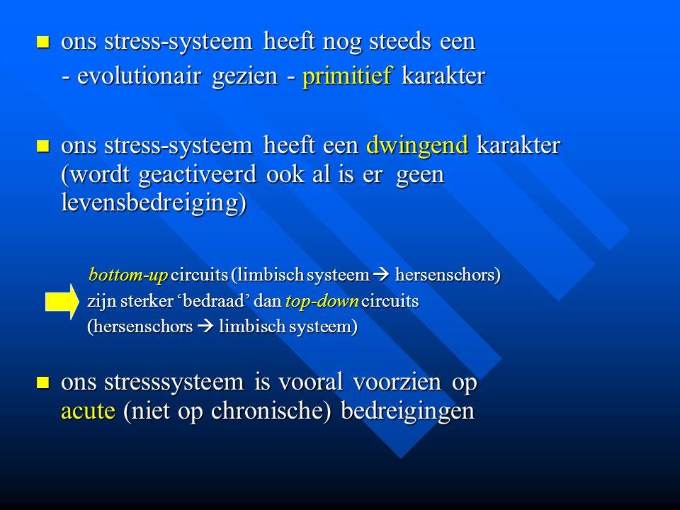 ons stress-systeem heeft nog steeds een