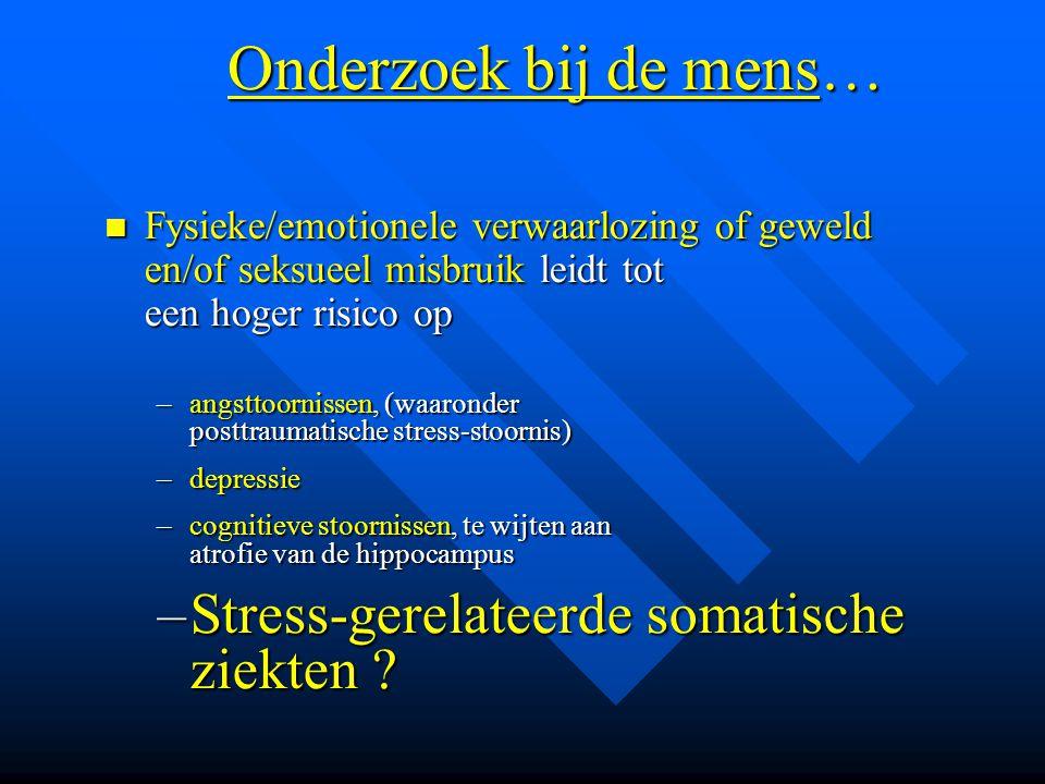 Onderzoek bij de mens… Stress-gerelateerde somatische ziekten
