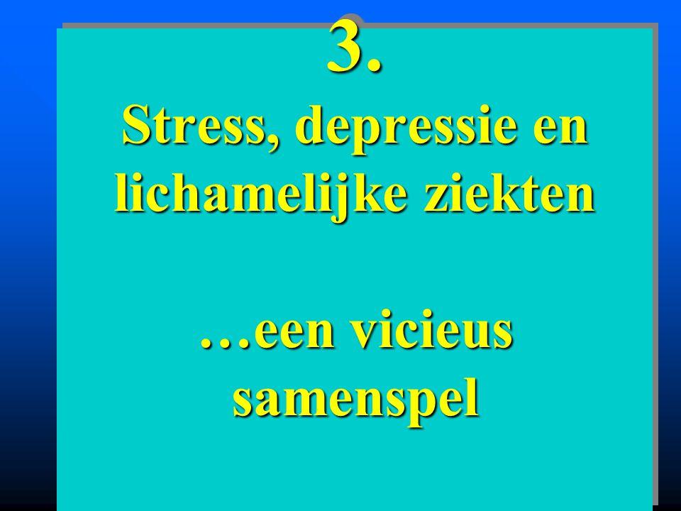 3. Stress, depressie en lichamelijke ziekten …een vicieus samenspel