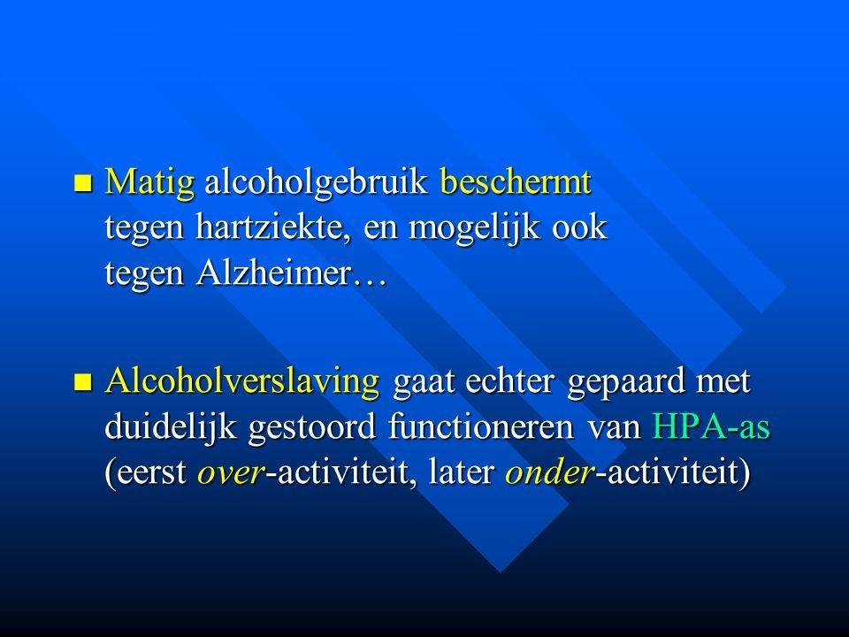 Matig alcoholgebruik beschermt tegen hartziekte, en mogelijk ook tegen Alzheimer…