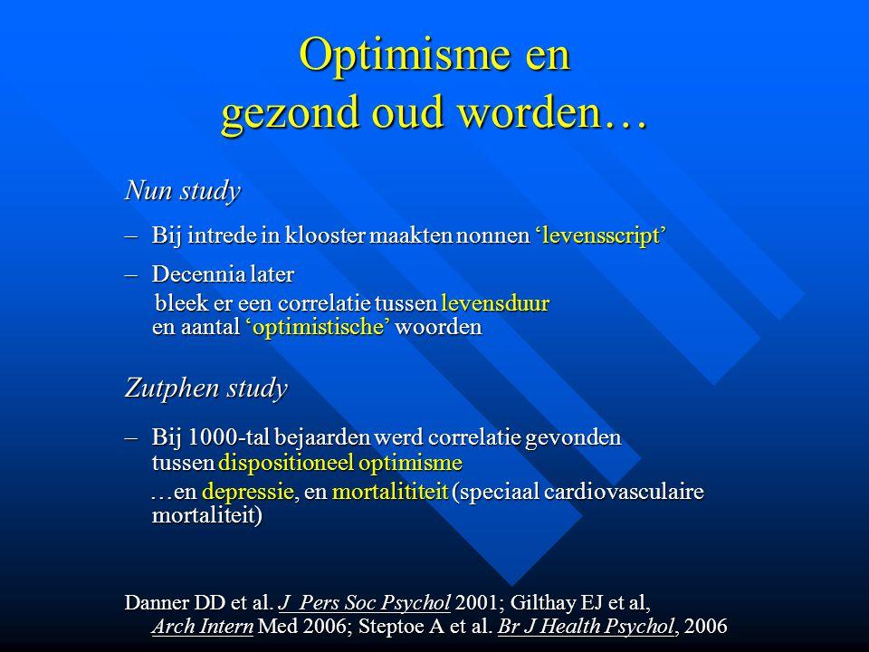 Optimisme en gezond oud worden…