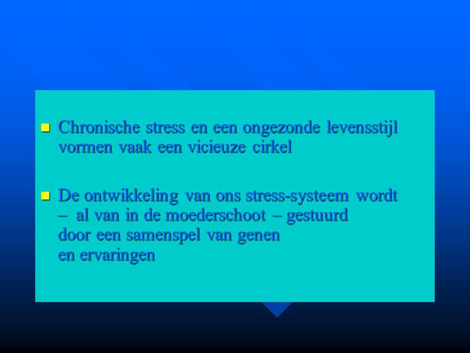Chronische stress en een ongezonde levensstijl vormen vaak een vicieuze cirkel