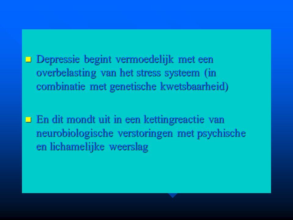 Depressie begint vermoedelijk met een overbelasting van het stress systeem (in combinatie met genetische kwetsbaarheid)