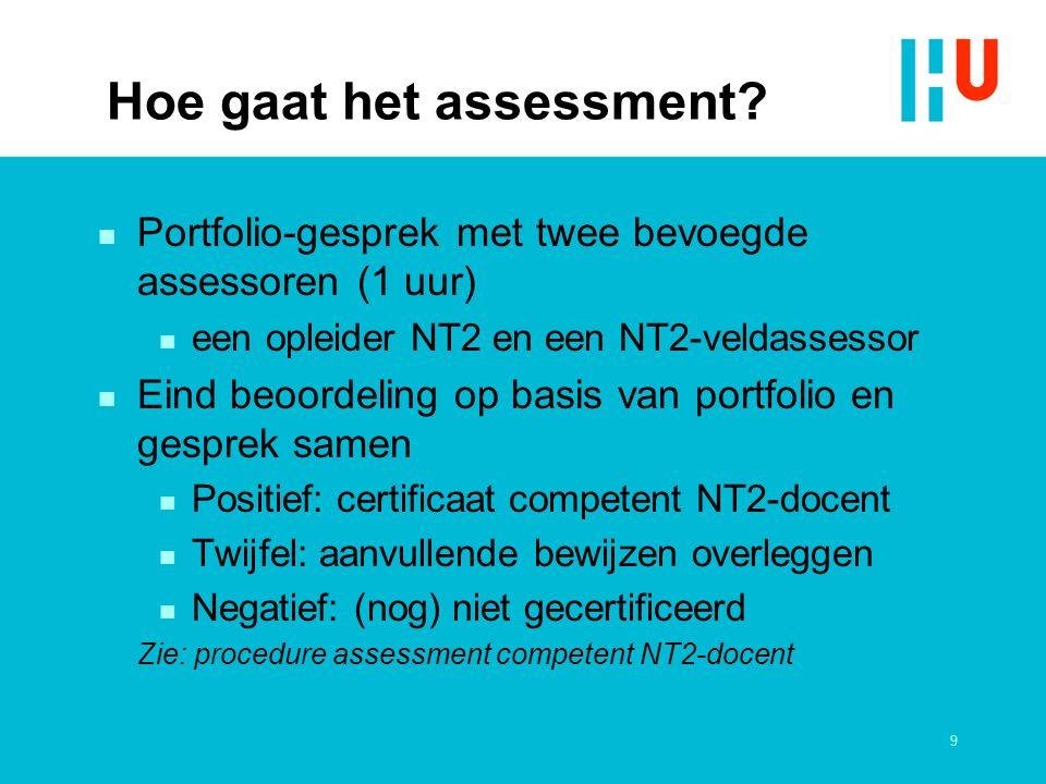 Hoe gaat het assessment