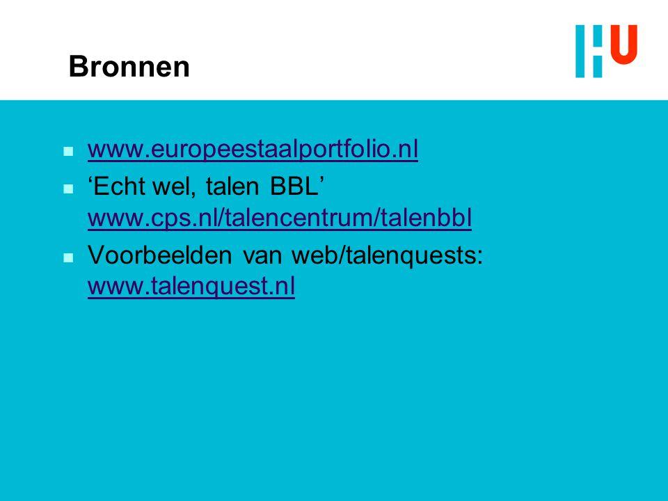 Bronnen www.europeestaalportfolio.nl