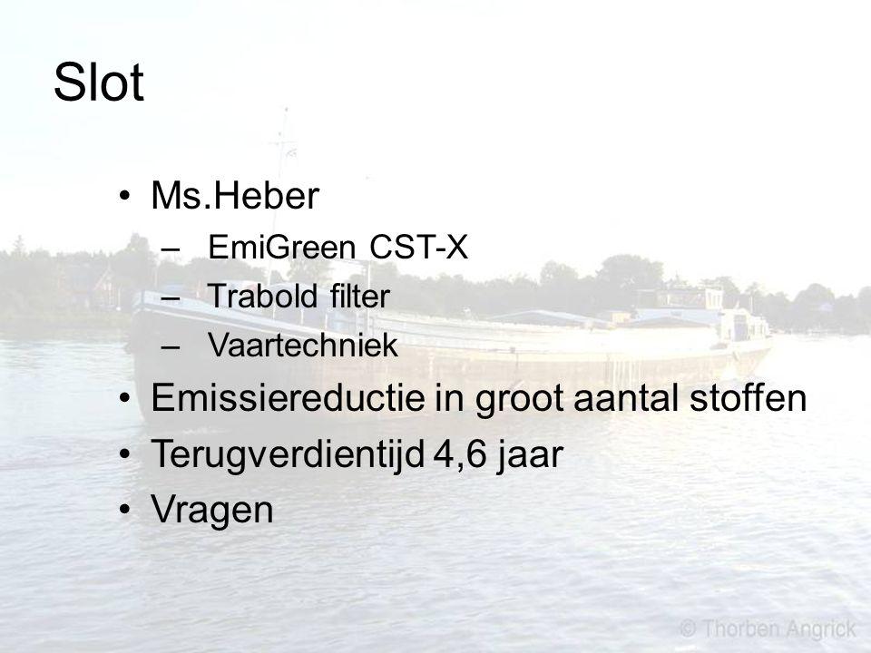 Slot Ms.Heber Emissiereductie in groot aantal stoffen