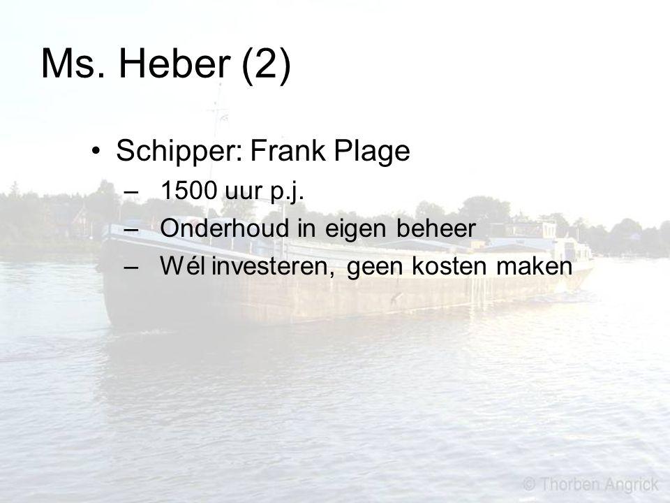 Ms. Heber (2) Schipper: Frank Plage 1500 uur p.j.