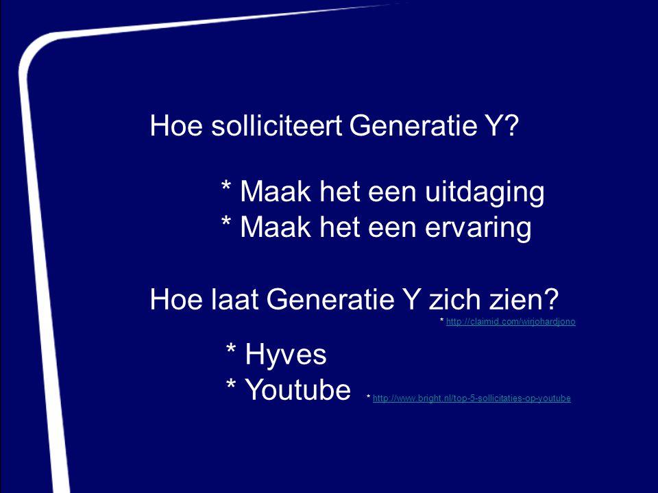 Hoe solliciteert Generatie Y