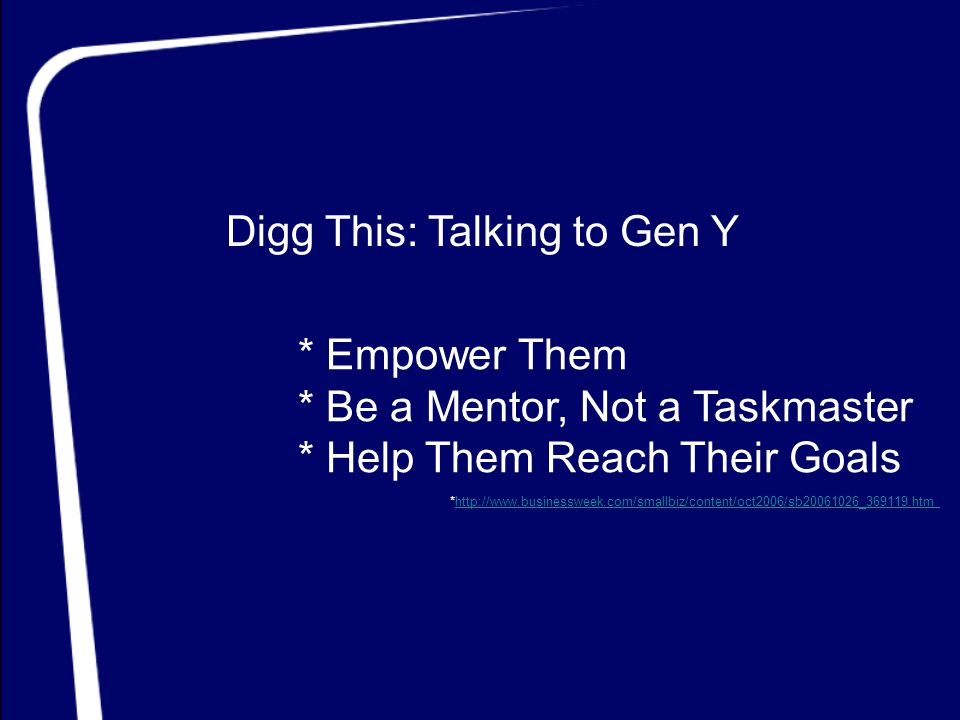 Digg This: Talking to Gen Y