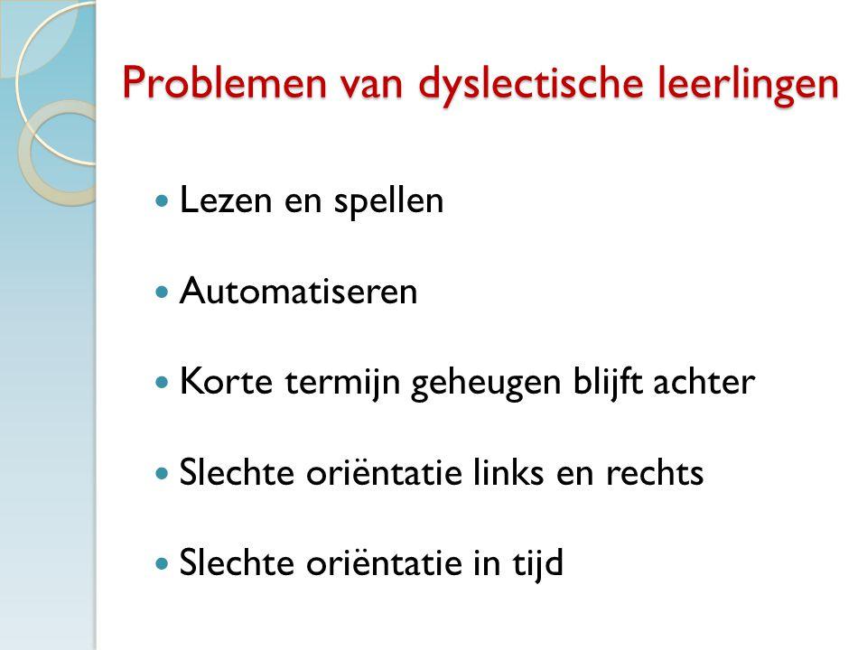Problemen van dyslectische leerlingen