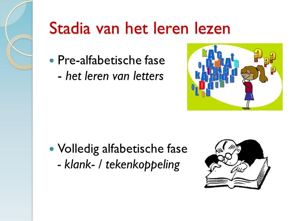 Stadia van het leren lezen