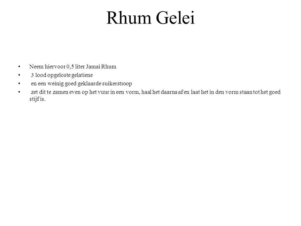 Rhum Gelei Neem hiervoor 0,5 liter Jamai Rhum