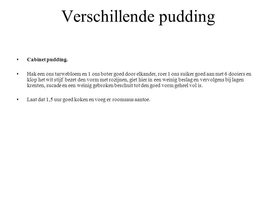 Verschillende pudding