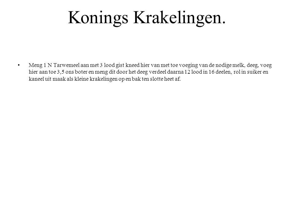 Konings Krakelingen.