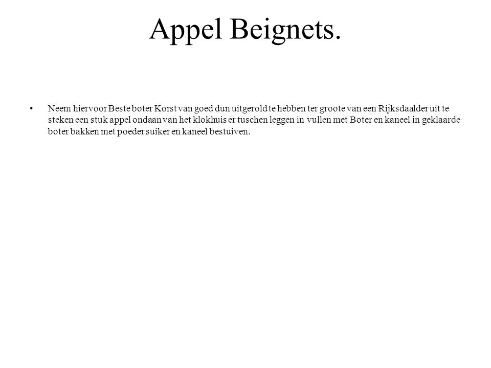 Appel Beignets.