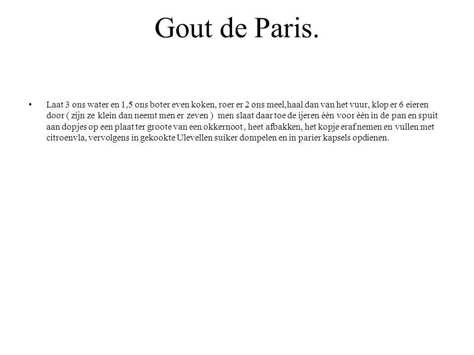 Gout de Paris.