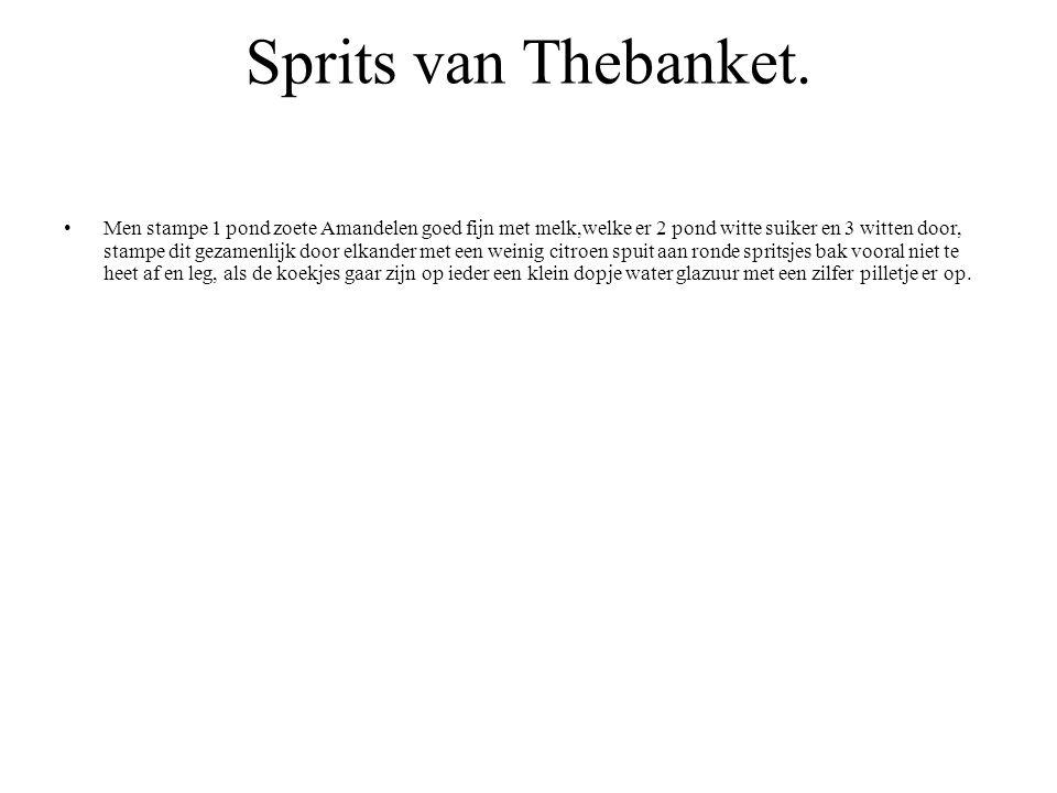Sprits van Thebanket.