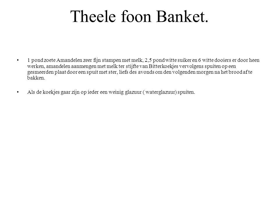 Theele foon Banket.