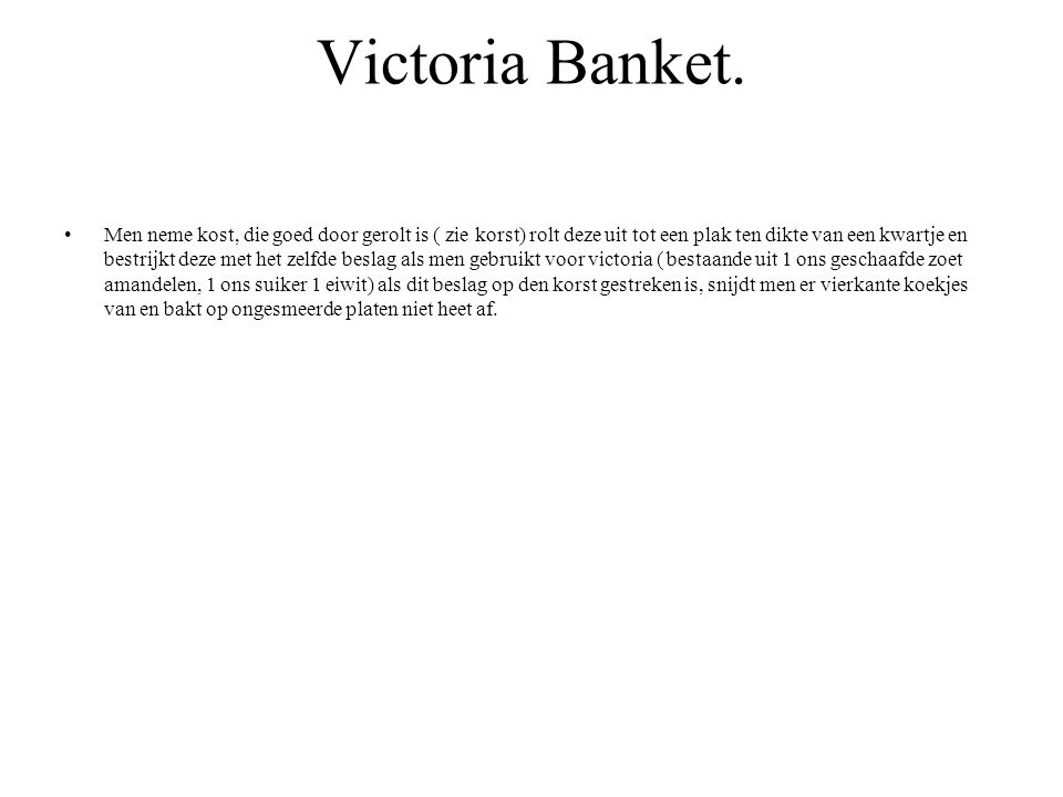Victoria Banket.