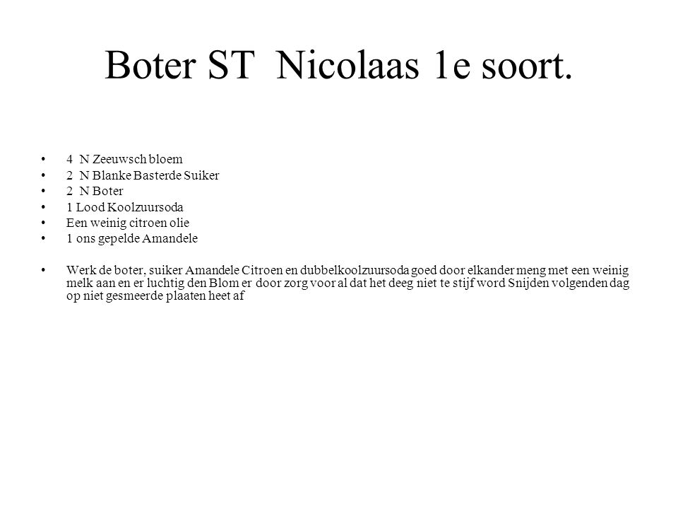 Boter ST Nicolaas 1e soort.