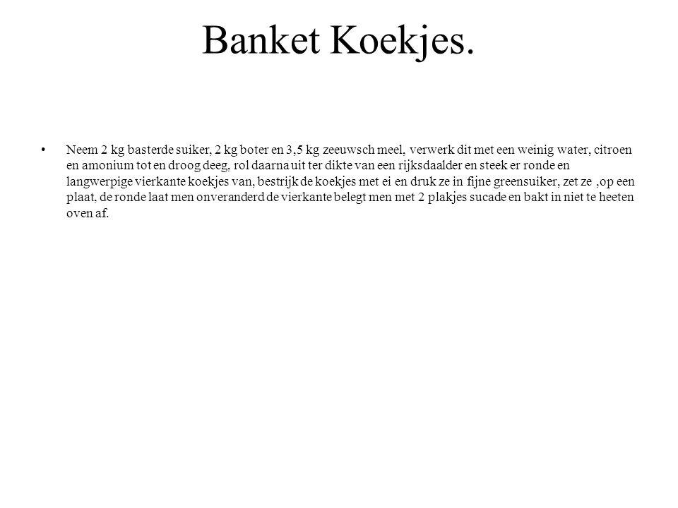 Banket Koekjes.