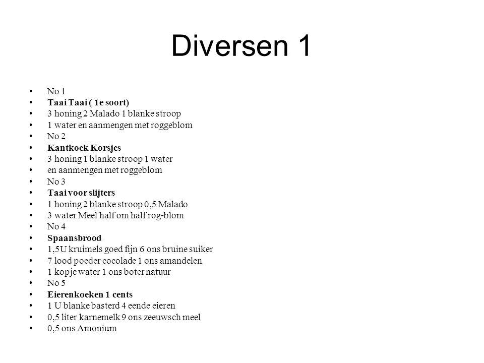 Diversen 1 No 1 Taai Taai ( 1e soort)