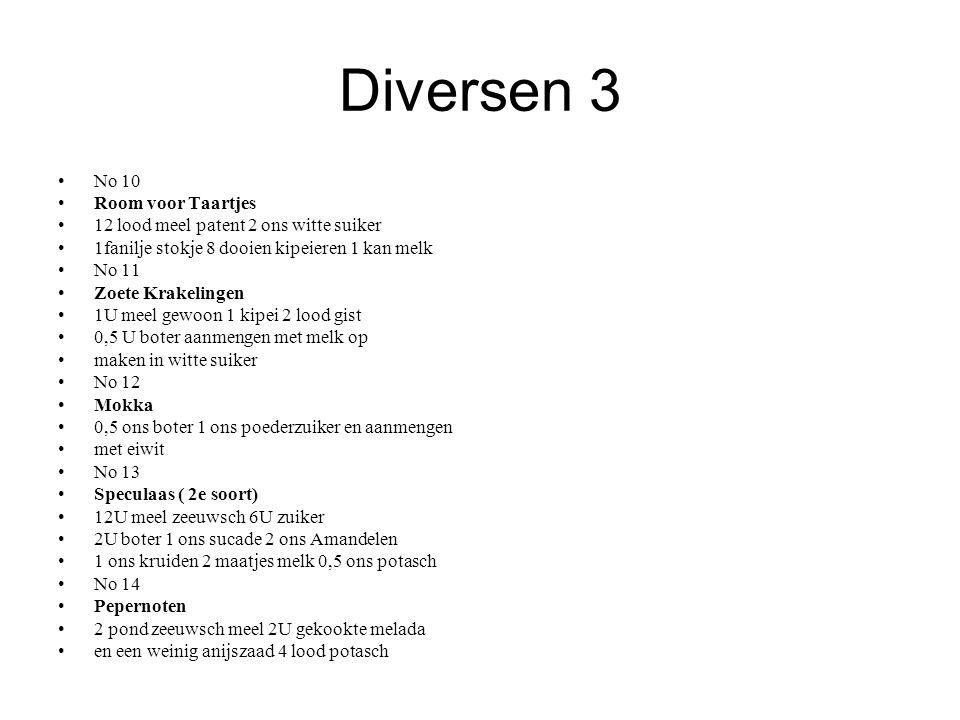 Diversen 3 No 10 Room voor Taartjes