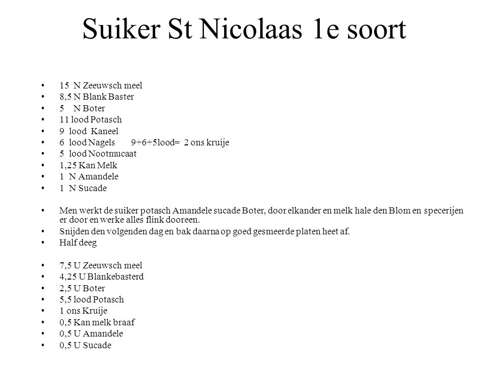 Suiker St Nicolaas 1e soort