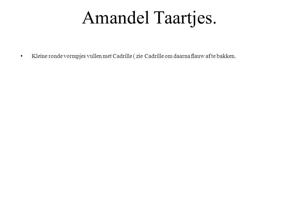 Amandel Taartjes.