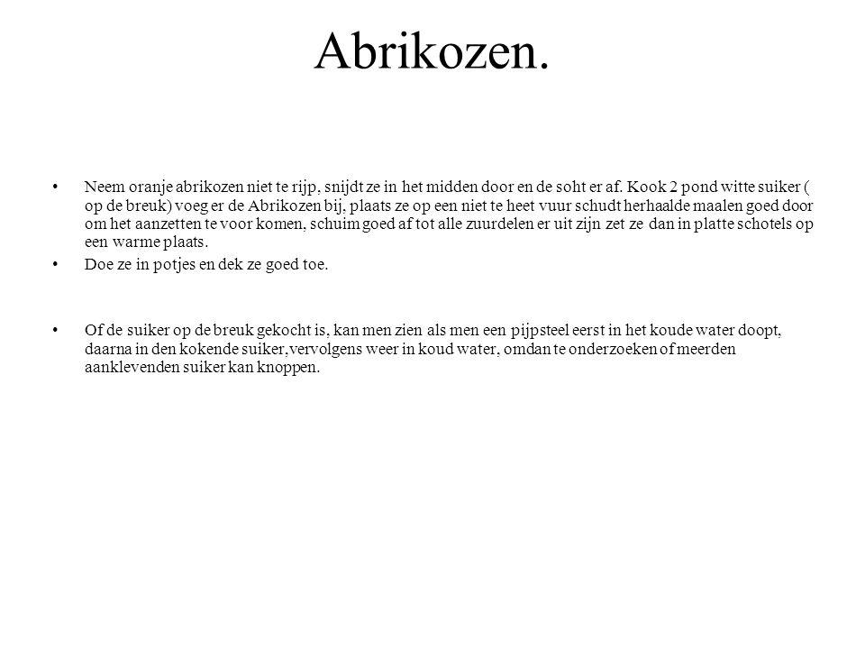 Abrikozen.