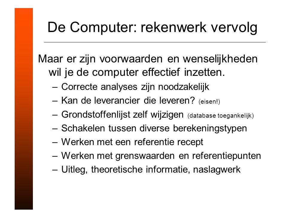 De Computer: rekenwerk vervolg