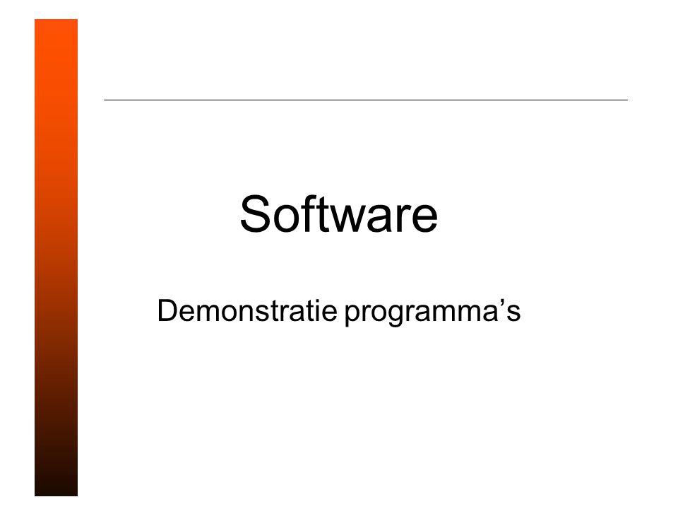 Demonstratie programma's