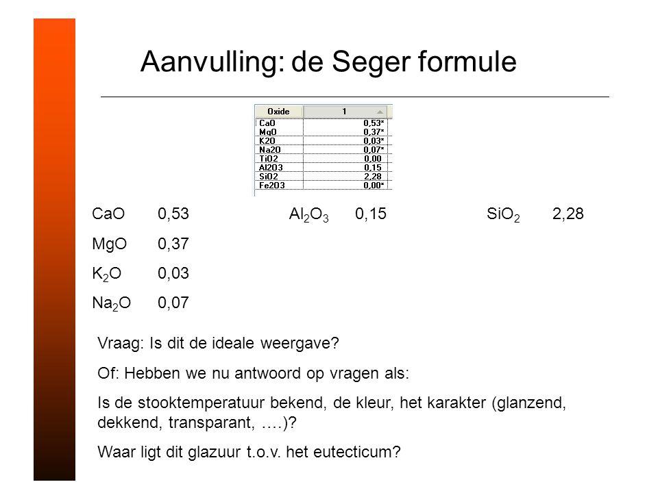 Aanvulling: de Seger formule