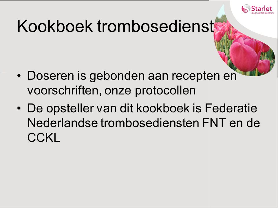 Kookboek trombosedienst