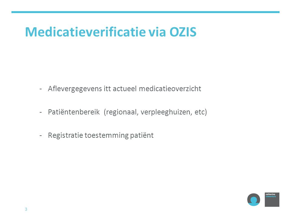 Medicatieverificatie via OZIS