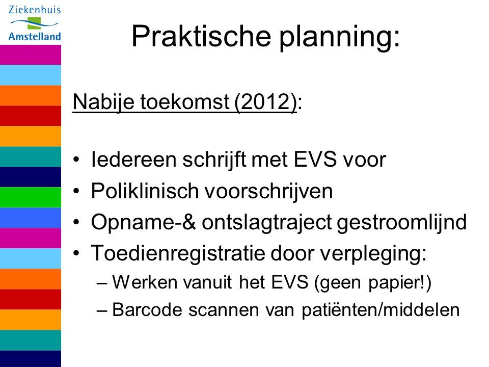 Praktische planning: Nabije toekomst (2012):