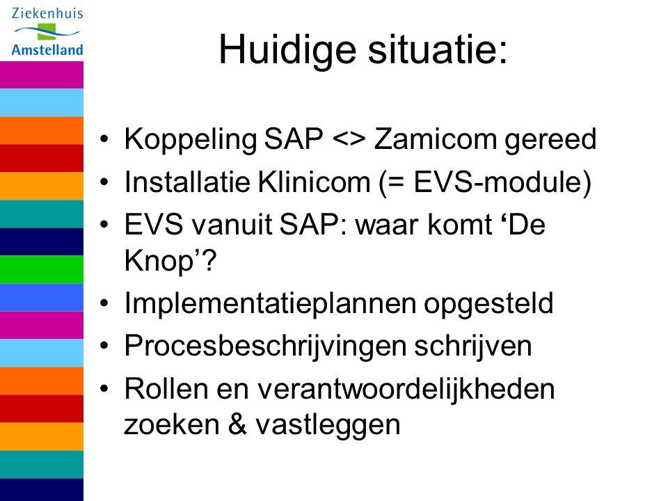 Huidige situatie: Koppeling SAP <> Zamicom gereed