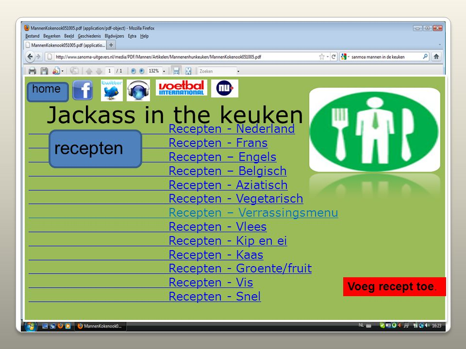 Jackass in the keuken recepten home Recepten - Nederland