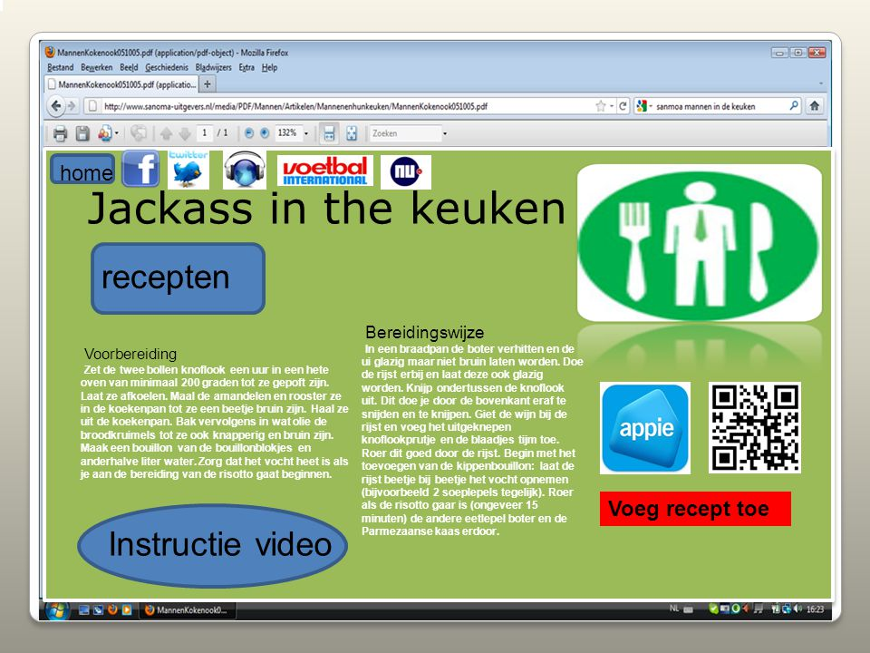 Jackass in the keuken recepten Instructie video home Voeg recept toe