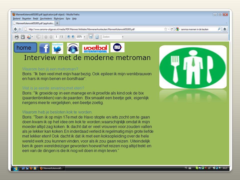 Interview met de moderne metroman