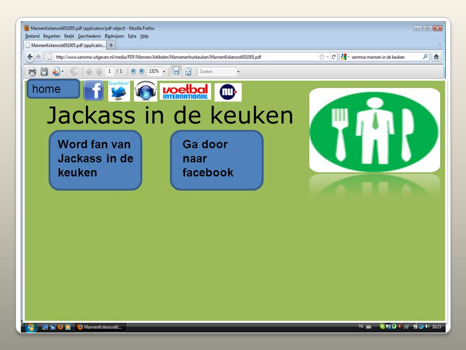 Jackass in de keuken home Word fan van Jackass in de keuken