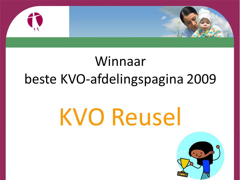 beste KVO-afdelingspagina 2009