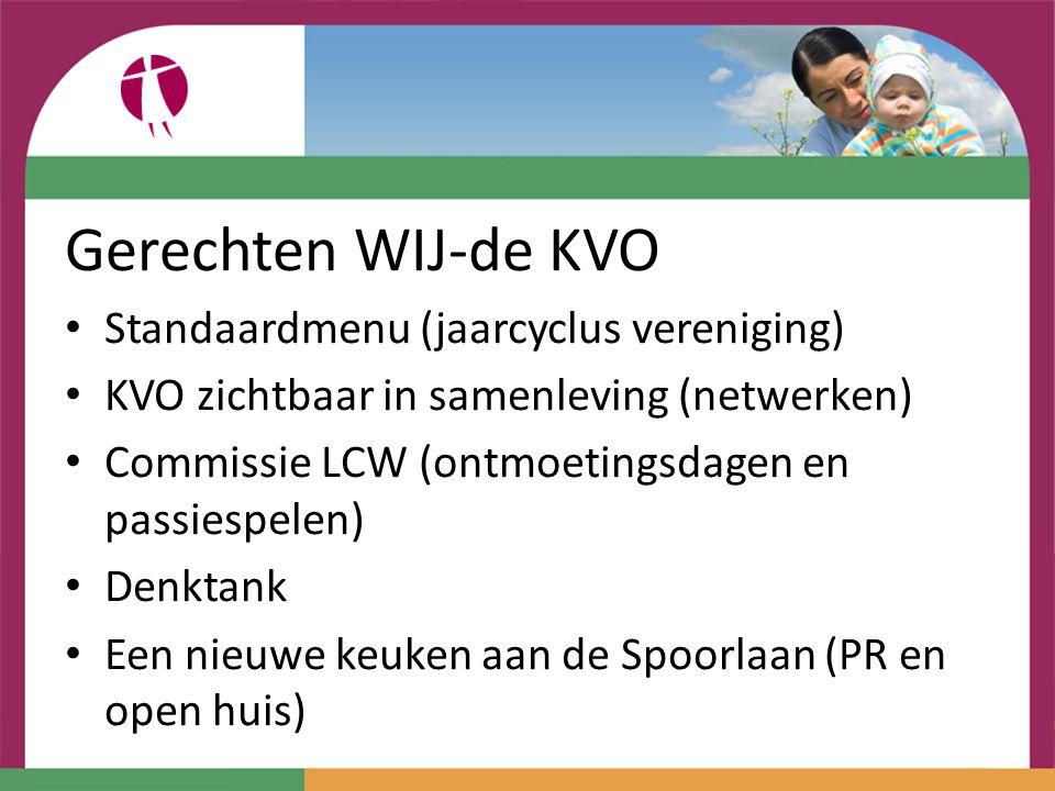 Gerechten WIJ-de KVO Standaardmenu (jaarcyclus vereniging)