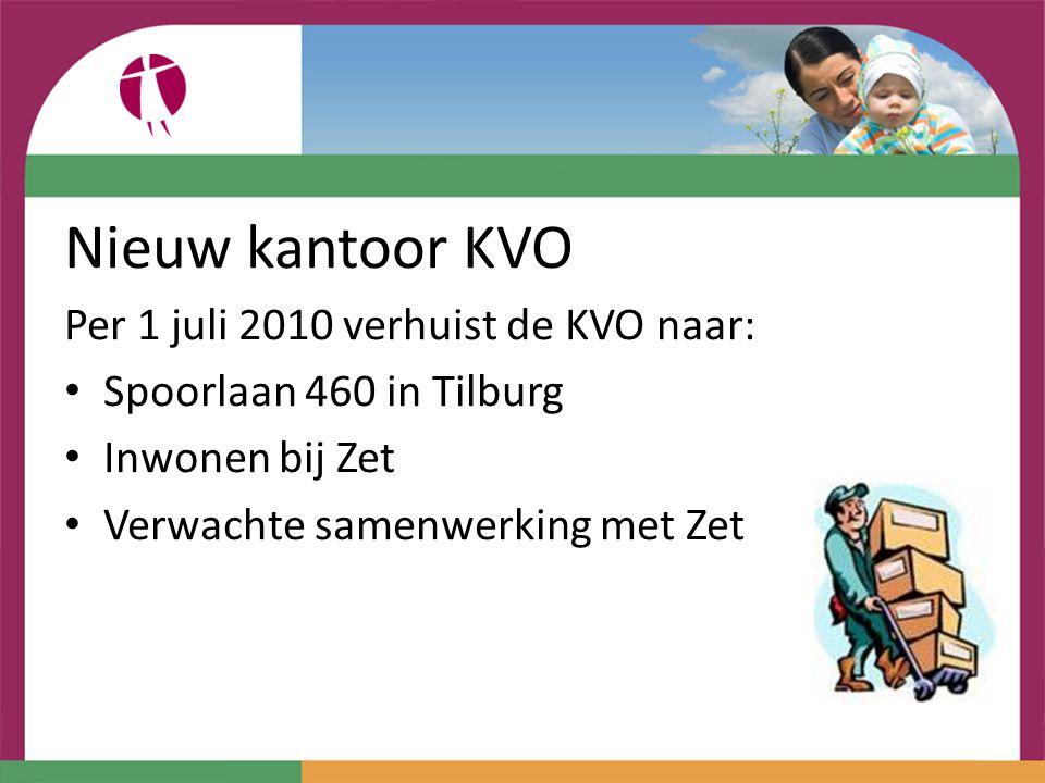 Nieuw kantoor KVO Per 1 juli 2010 verhuist de KVO naar: