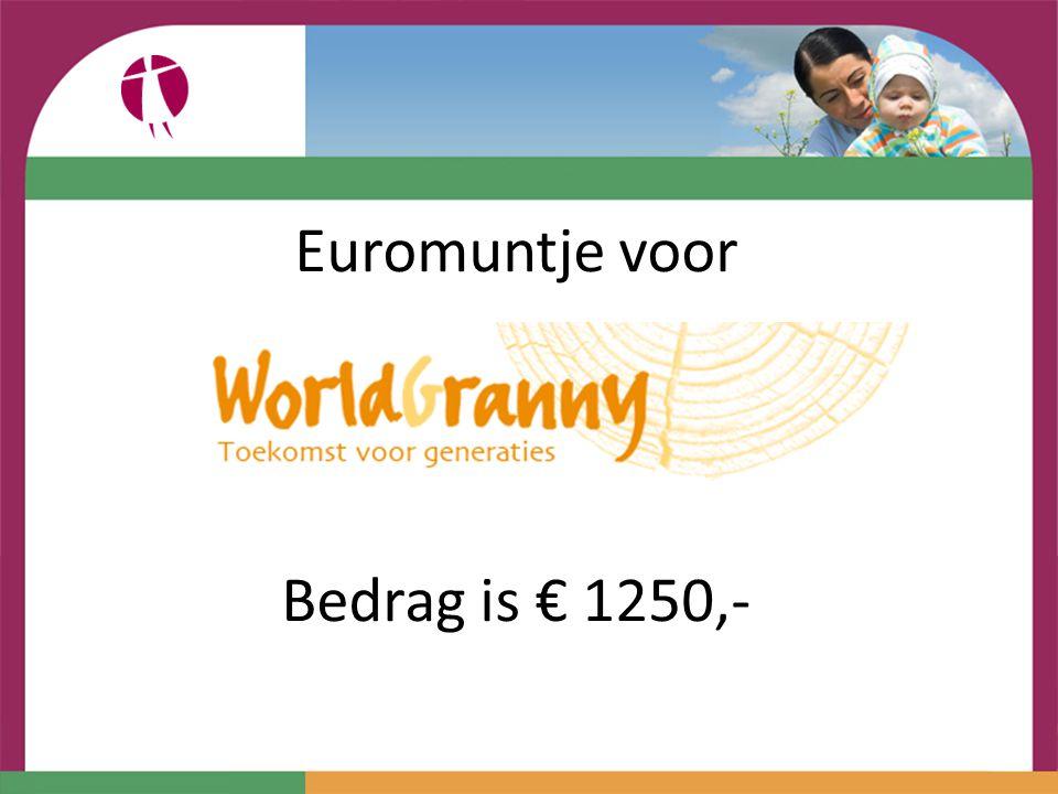 Euromuntje voor Bedrag is € 1250,-