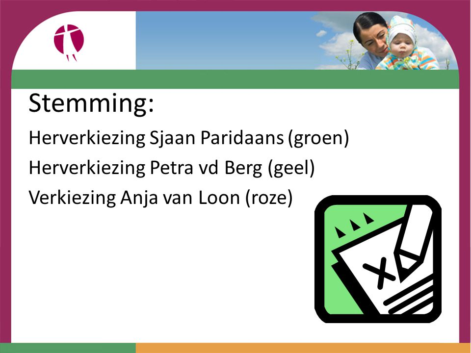 Stemming: Herverkiezing Sjaan Paridaans (groen)