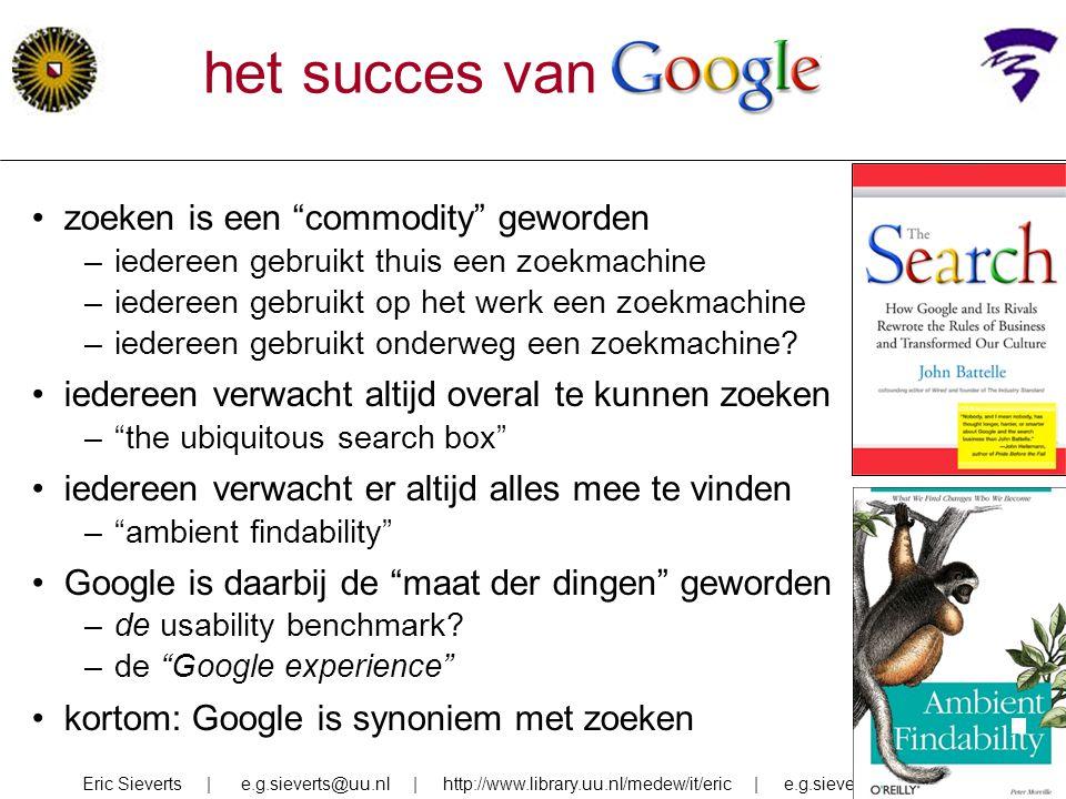 het succes van google zoeken is een commodity geworden