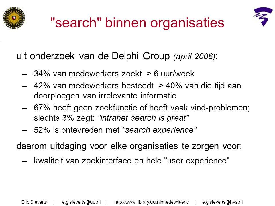 search binnen organisaties