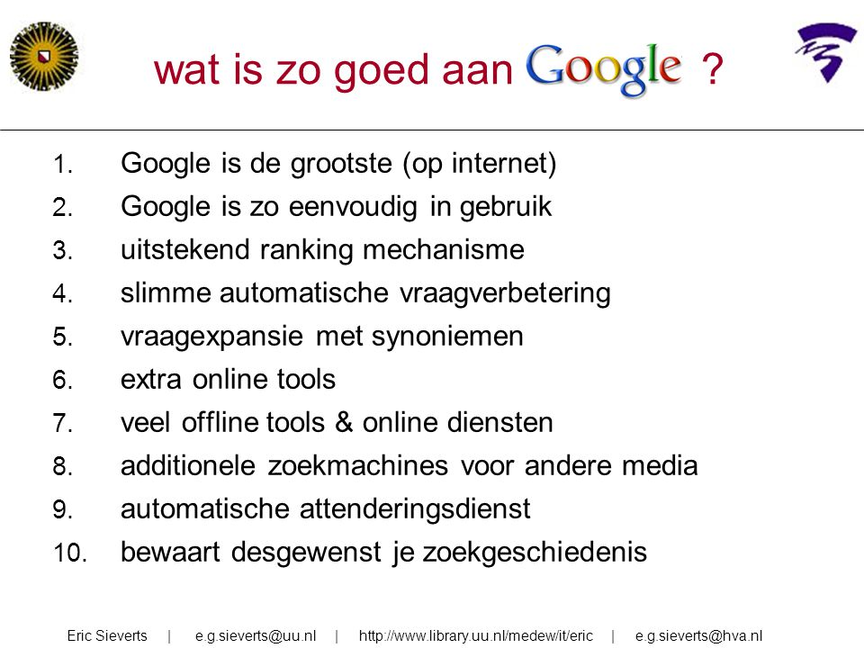 wat is zo goed aan Google