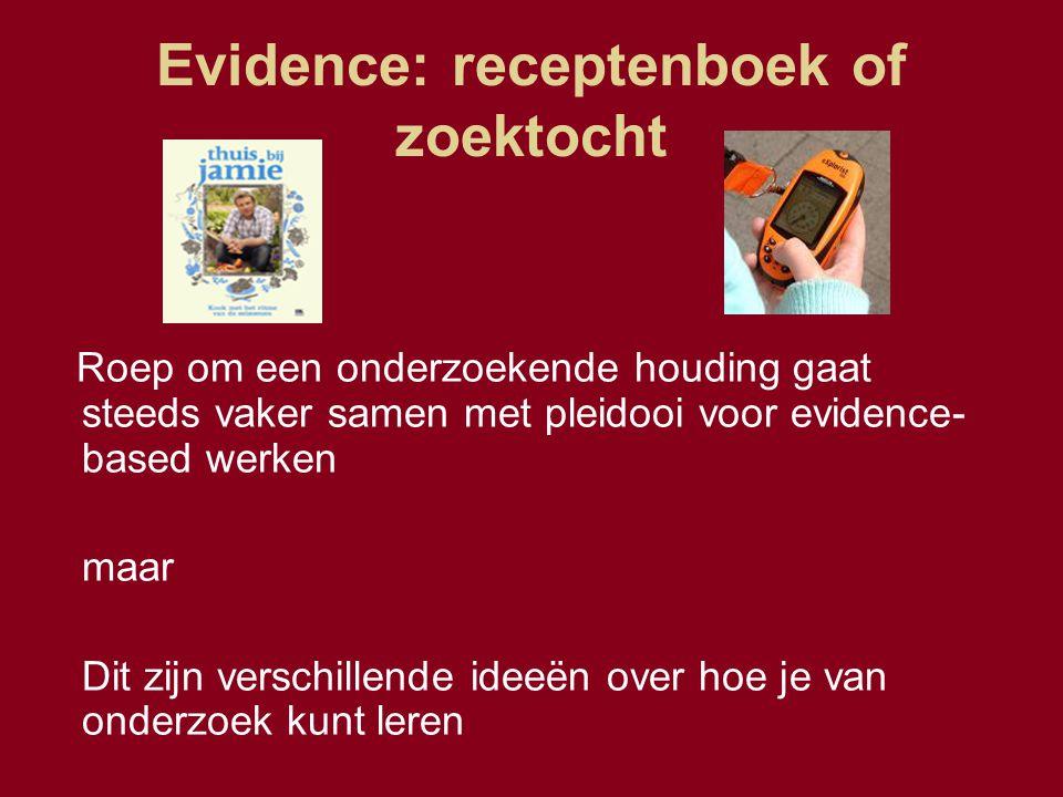 Evidence: receptenboek of zoektocht